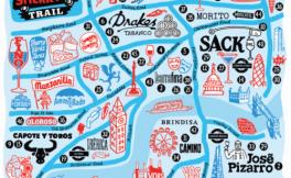 为迎合国际雪莉酒周活动,雪莉酒协会制作了伦敦雪莉酒地形图