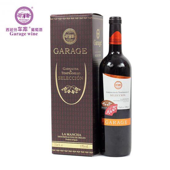 车库天普兰尼洛干红葡萄酒