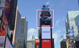 张裕第九代解百纳宣传片出现在美国纽约时代广场广告屏上