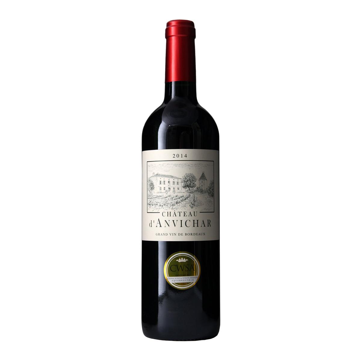 法国安维查红葡萄酒