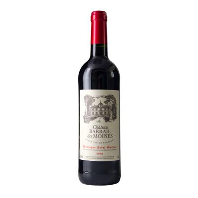 法国圣埃米利永山区巴赫尔僧侣堡红葡萄酒2010