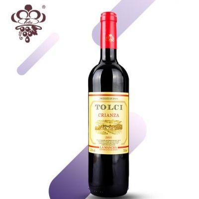 图思(TOLCI)西班牙原瓶进口DO级 陈酿干红葡萄酒