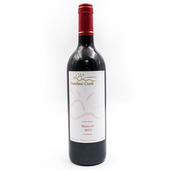 SUNSHINECREEK 澳洲原瓶进口红酒 雅拉谷精选系列 美乐干红葡萄酒2015