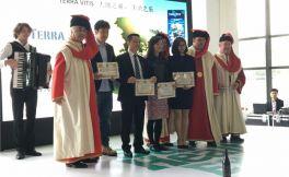 法国罗纳骑士会日前在杭州举办葡萄酒推广活动