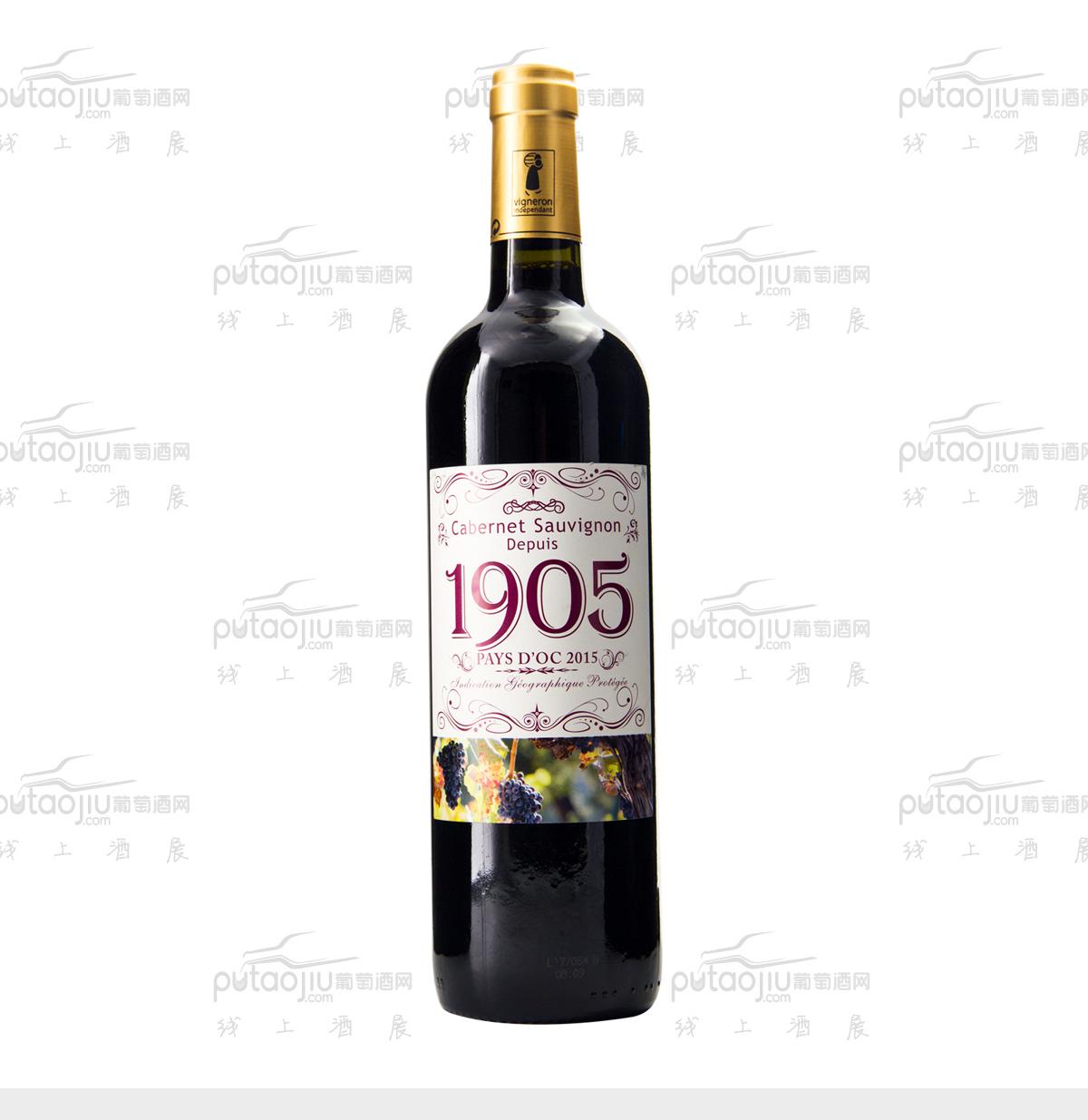 法国奥克地区维克家族1905酒庄赤霞珠IGP干红葡萄酒