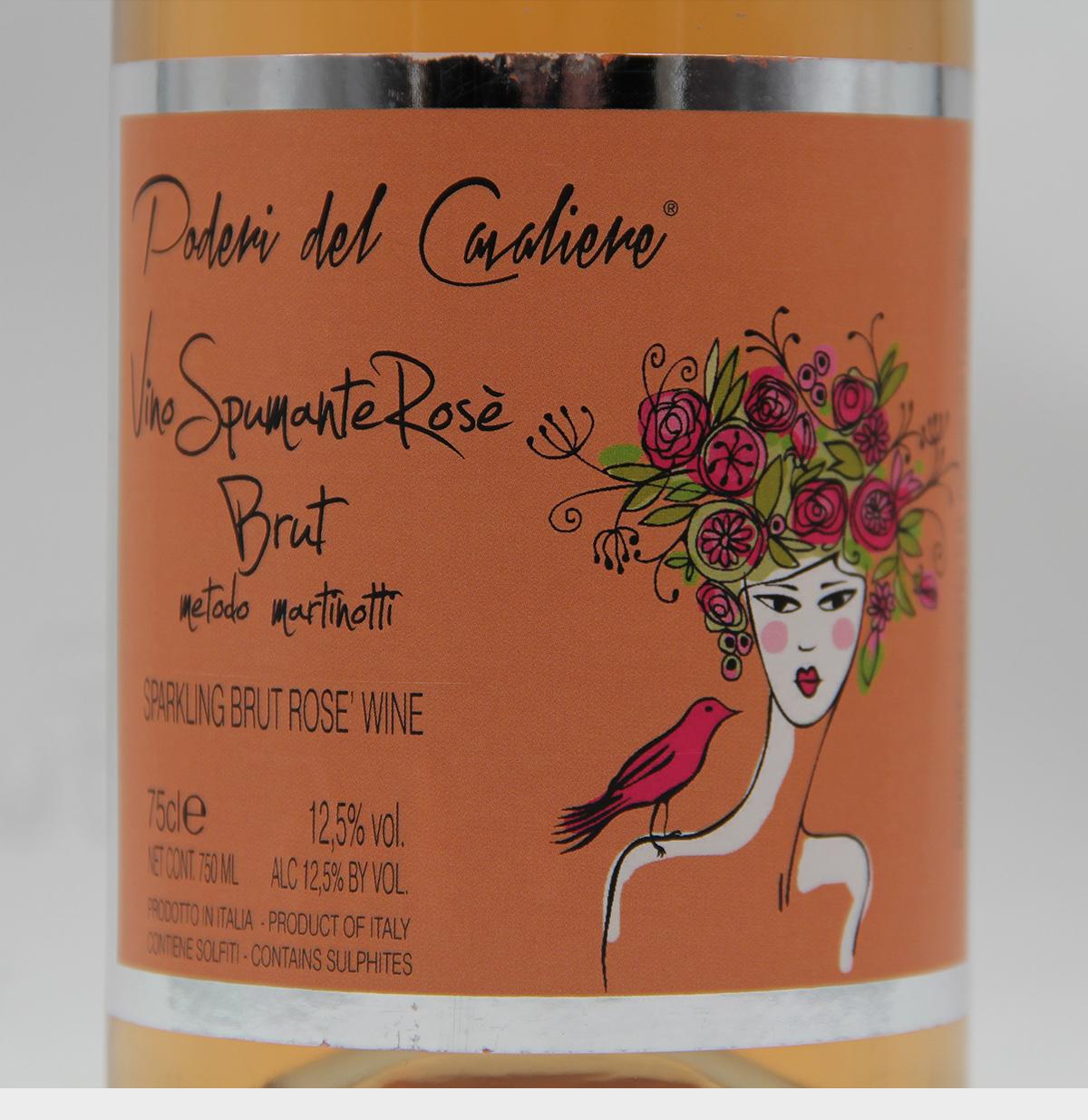 骑士之地玫瑰红干型起泡葡萄酒