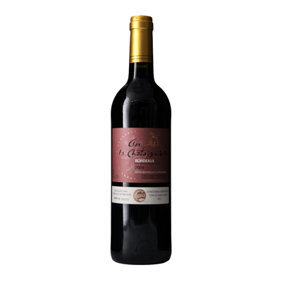 法国波尔多栗子坊庄园美乐AOC干红葡萄酒