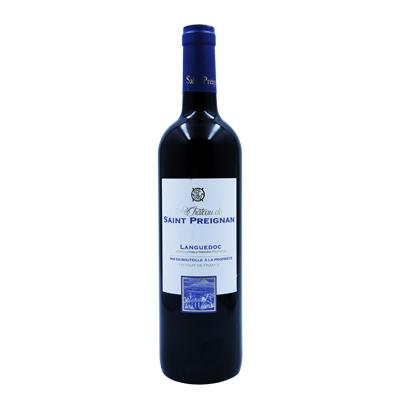 法国朗格多克鲁西荣圣普雷尼昂酒庄混酿圣培农AOP干红葡萄酒