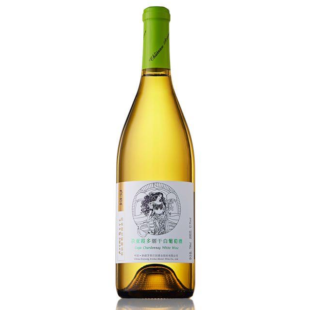 中国新疆产区芳香庄园尕亚霞多丽干白葡萄酒