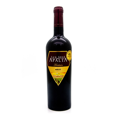 智利拉佩尔谷圣何塞阿帕塔梅洛传统精选干红葡萄酒
