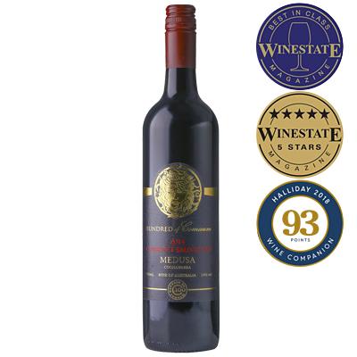 澳大利亞南澳古口一百號酒莊美杜莎系列赤霞珠庫納瓦拉干紅葡萄酒