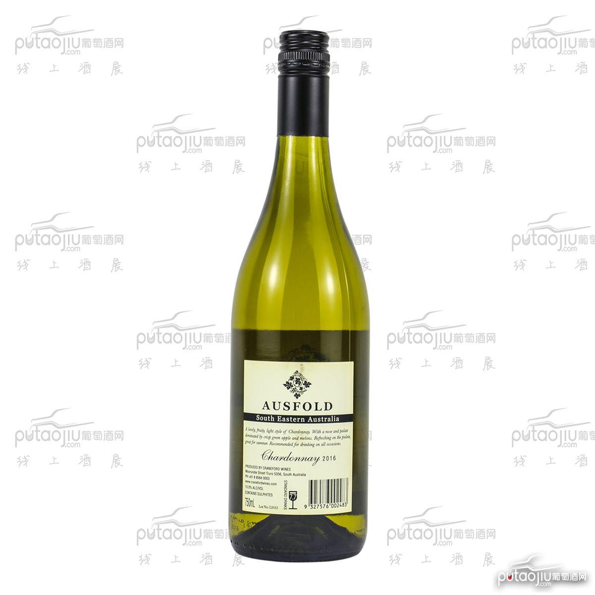 澳里赫庄园668莎当妮2016干白葡萄酒