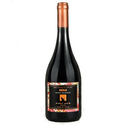 智利迈坡谷喜乐猫黑皮诺特级珍藏干红葡萄酒