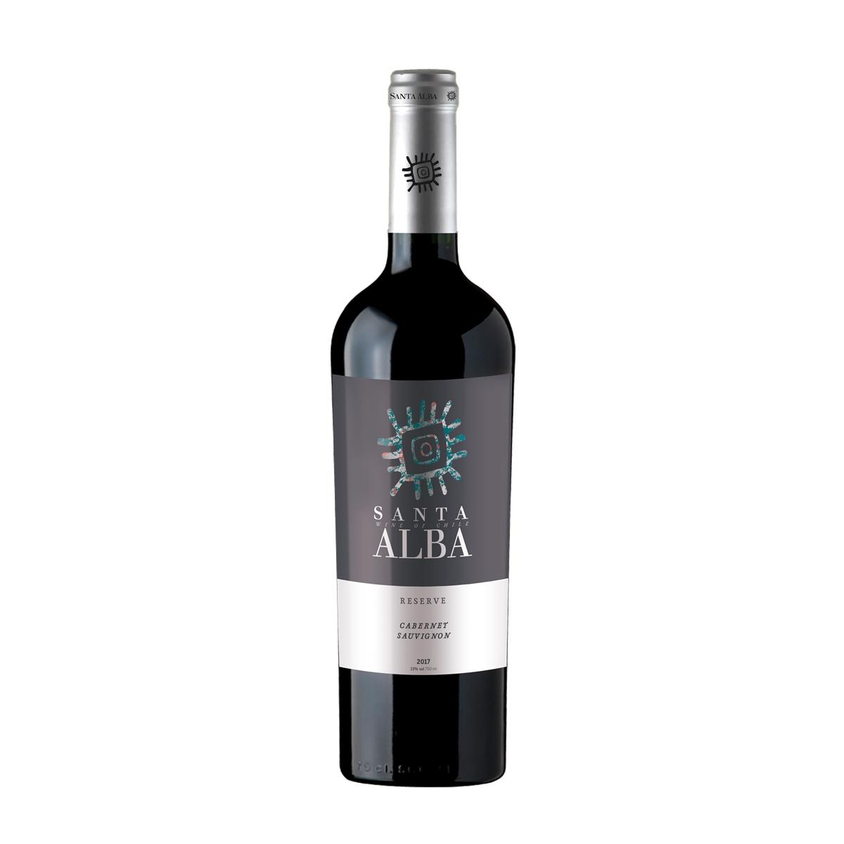 智利库里科谷香树酒庄圣塔赤霞珠珍藏干红葡萄酒