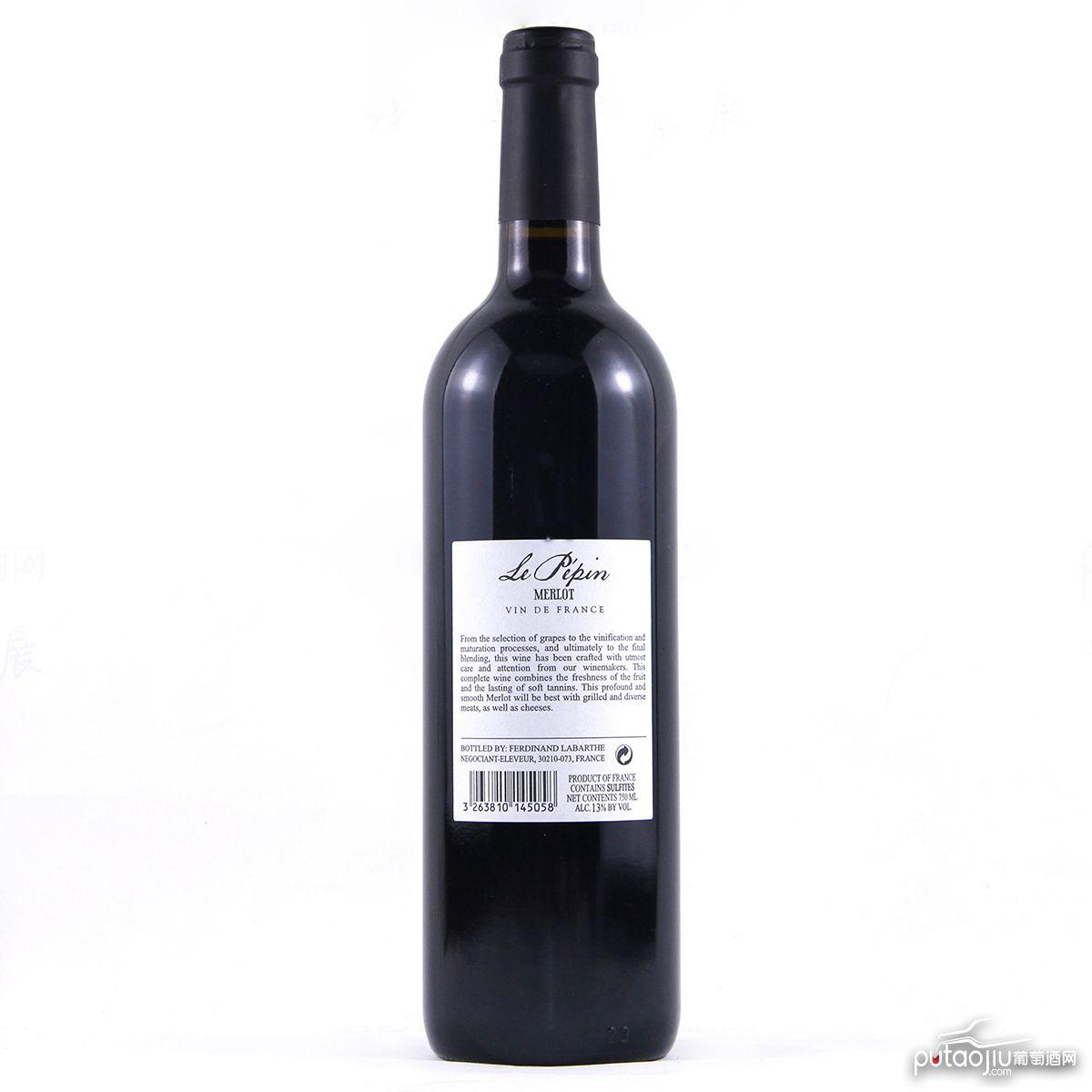 乐朋庄园美乐红葡萄酒