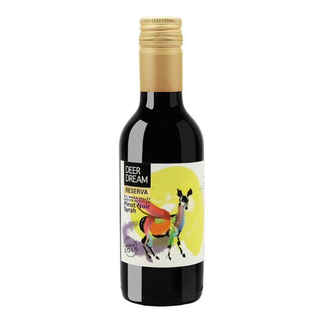 智利莫莱谷Invina梦鹿黑皮诺西拉珍藏级干红葡萄酒187ml