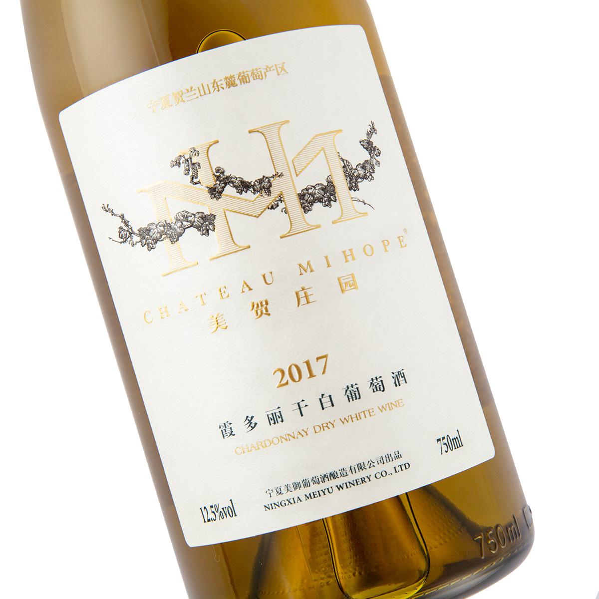 中国宁夏产区美贺庄园霞多丽干白葡萄酒