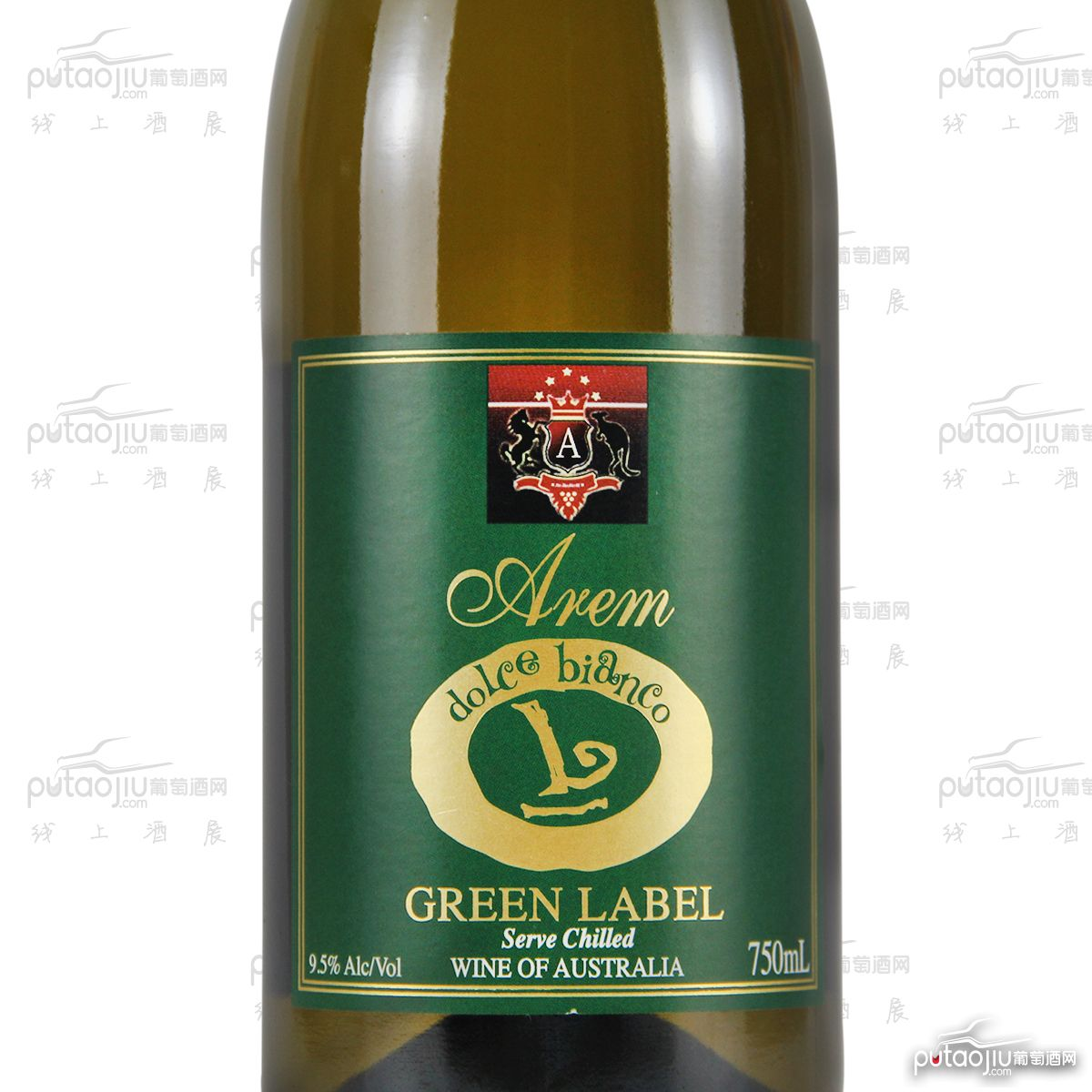 澳大利亚高奔产区澳宝红酒庄戈顿绿宝甜白葡萄酒