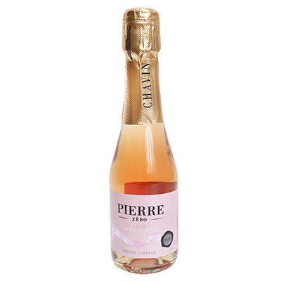 法国南部夏凡酒庄图比克霞多丽美乐脱醇桃红起泡酒200ml