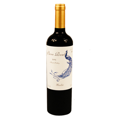 智利莫萊谷孔雀酒莊梅洛藍孔雀優級干紅葡萄酒