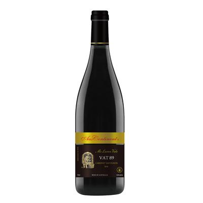 澳大利亚麦克拉伦谷产区澳洲大陆酒庄赤霞珠VAT 89干红葡萄酒