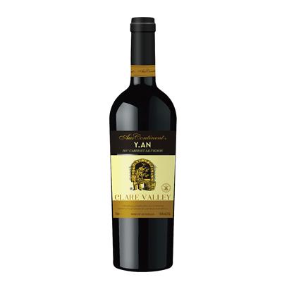 澳大利亚克莱尔谷澳洲大陆酒庄赤霞珠Y.AN干红葡萄酒