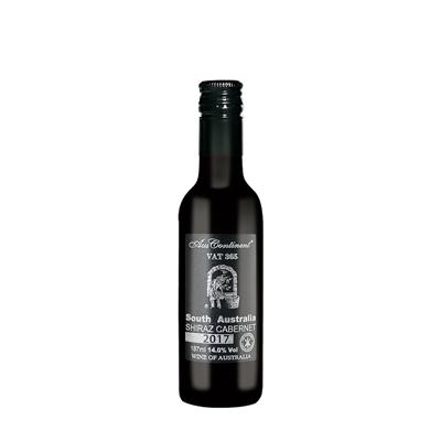 澳大利亚南澳产区澳洲大陆酒庄西拉赤霞珠VAT 365迷你小酒干红葡萄酒187ml