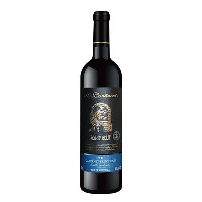 澳大利亚南澳产区澳洲大陆酒庄赤霞珠VAT 517 干红葡萄酒