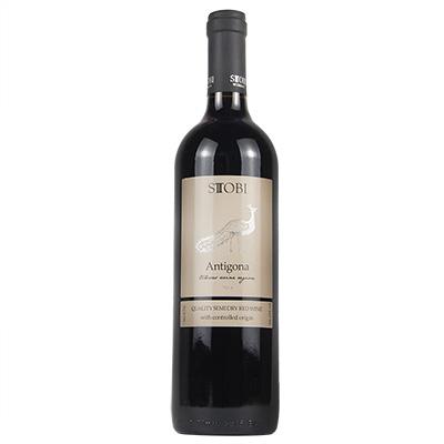 北马其顿斯多比酒庄混酿安提哥拉A级半干红葡萄酒