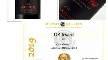 重磅!!法国大地之吻三款干红荣获吉伯特&盖拉德金奖殊荣