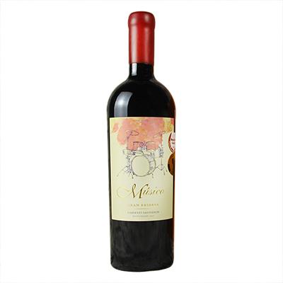 智利麦坡谷Musico酒庄音乐家架子鼓赤霞珠红葡萄酒