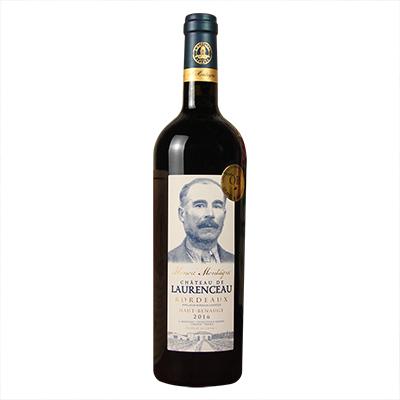 法国波尔多法定产区上伯诺日诺朗索庄园赤霞珠梅洛1号AOC干红葡萄酒