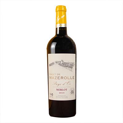 法国南部马泽罗勒庄园梅洛干红葡萄酒