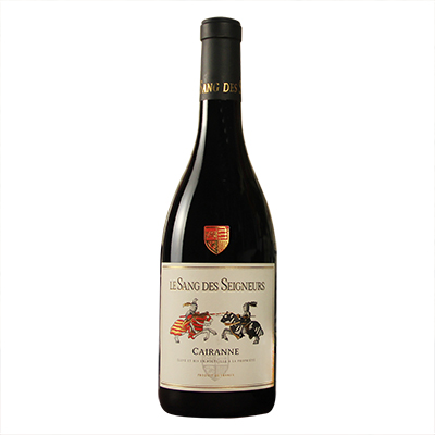 法国罗纳河谷圣血庄园混酿给汉AOP干红葡萄酒