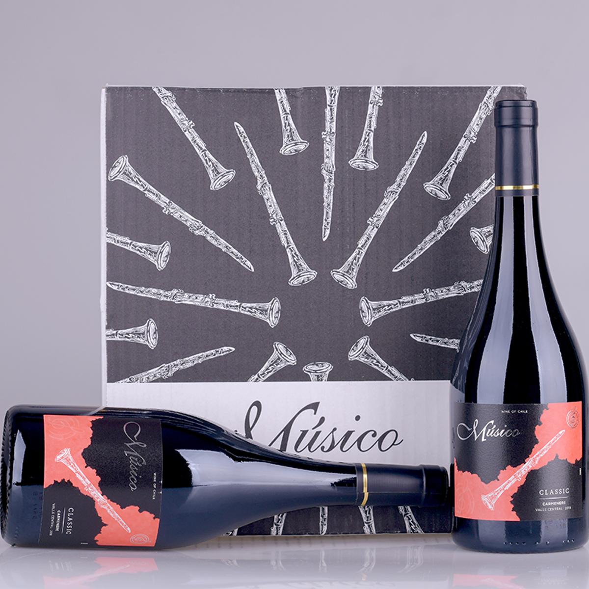 智利中央山谷Musico酒庄音乐家黑管佳美娜红葡萄酒
