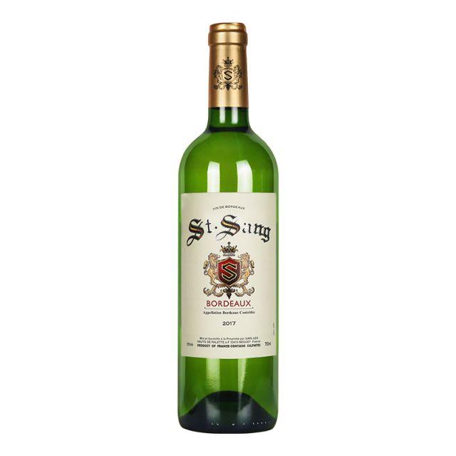 法国波尔多查尔斯芸父子酒庄圣颂庄园长相思赛美蓉AOC干白葡萄酒