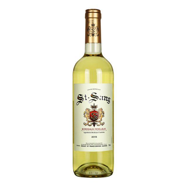 法国波尔多杜朗城堡圣颂庄园长相思赛美蓉AOC半甜白葡萄酒