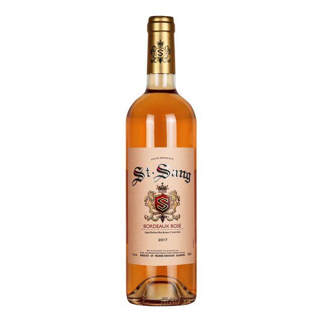 法国波尔多圣颂庄园赤霞珠梅洛AOC桃红葡萄酒