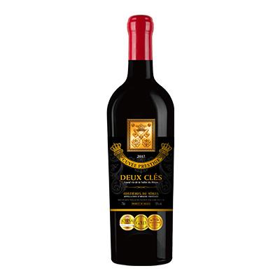 两把钥匙·黑牌皇冠红葡萄酒2017