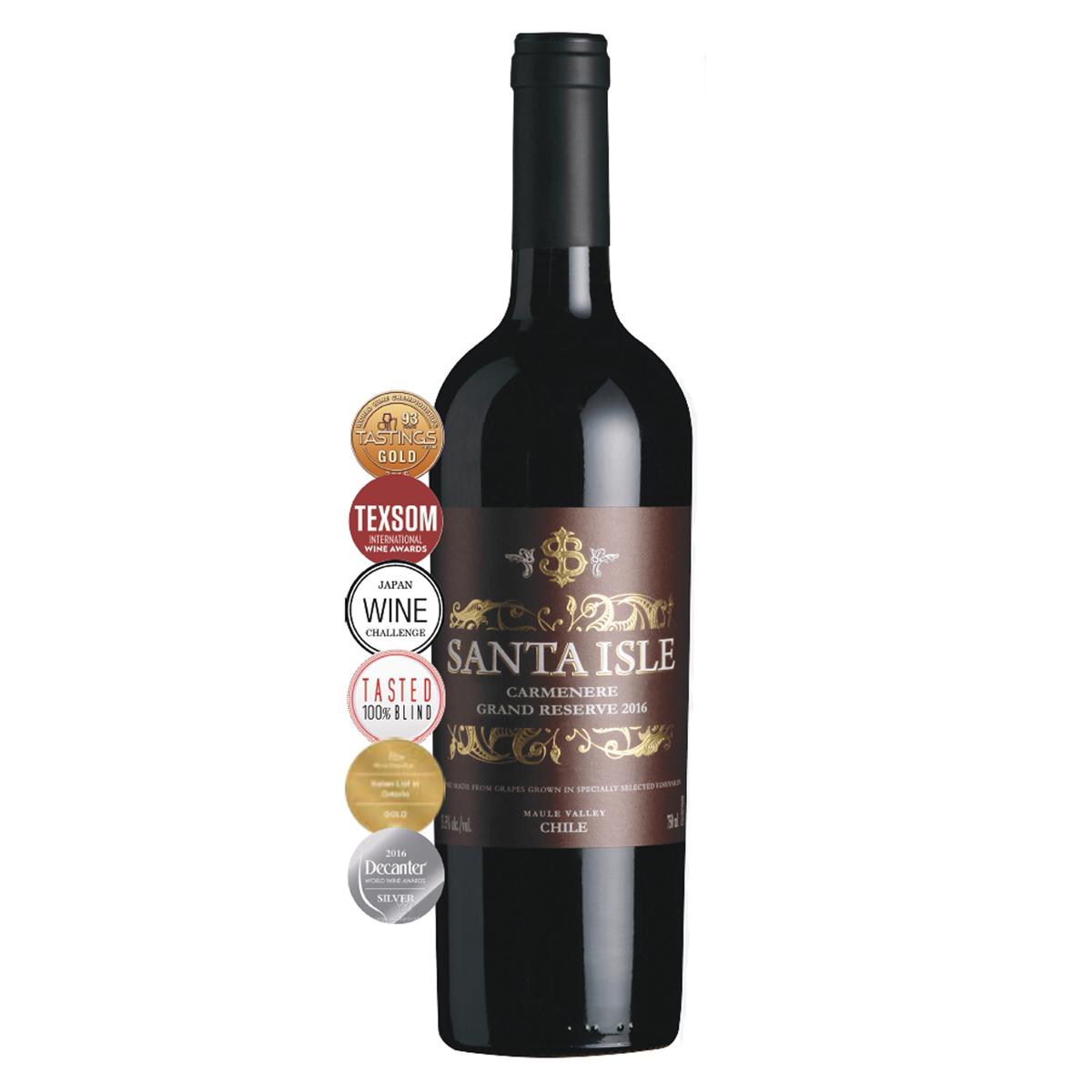 智利莫萊谷圣艾爾斯佳美娜特級珍藏級干紅葡萄酒紅酒