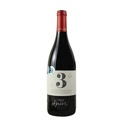 南非斯泰倫博斯斯皮爾酒莊創意區間系列3號干紅葡萄酒紅酒