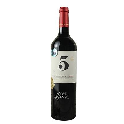 南非斯泰伦博斯斯皮尔酒庄创意区间系列5号干红葡萄酒红酒