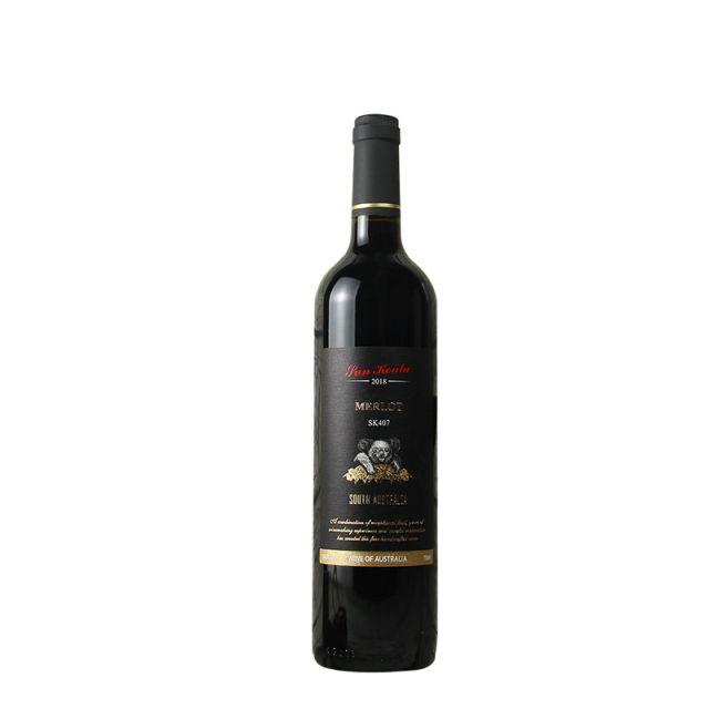 澳大利亞南澳陽光考拉SK407梅洛干紅葡萄酒