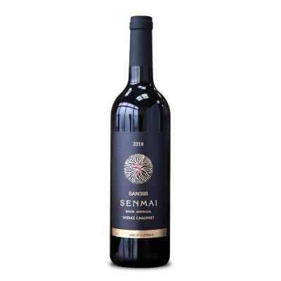 澳大利亚南澳澳洲大陆酒庄森脉SAN386西拉子赤霞珠干红葡萄酒