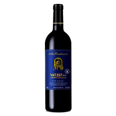 澳大利亚南澳产区澳洲大陆酒庄赤霞珠VAT 357干红葡萄酒