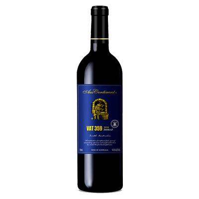 澳大利亚南澳产区澳洲大陆酒庄西拉VAT 359干红葡萄酒