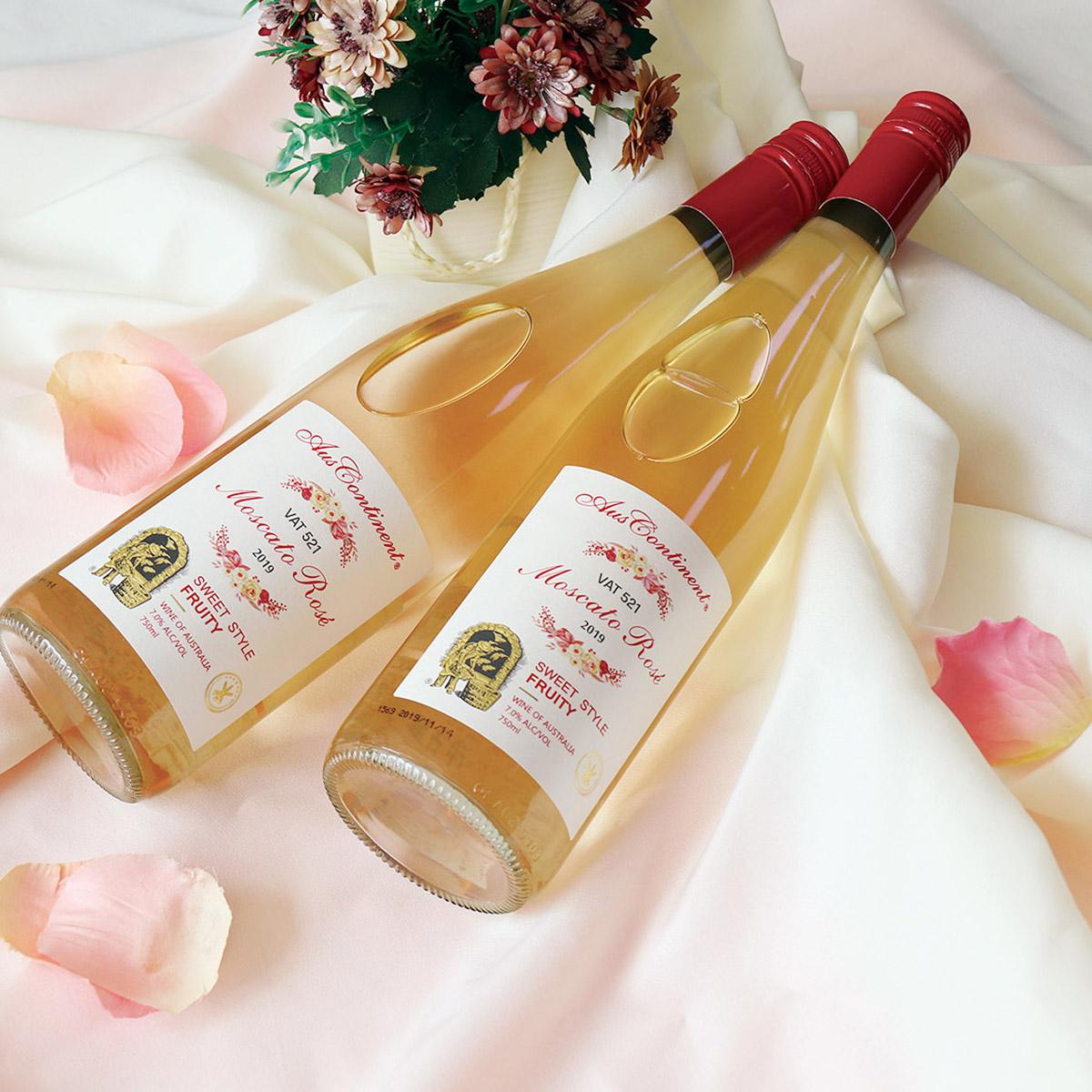 澳大利亞南澳產區澳洲大陸酒莊麝香VAT521 莫斯卡特粉紅微起泡酒