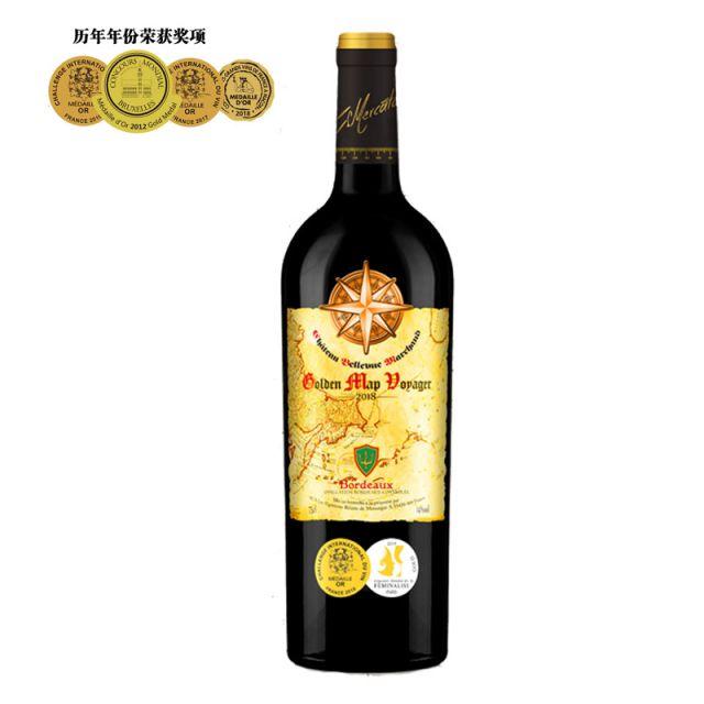 黄金地图·航海家城堡红葡萄酒红酒
