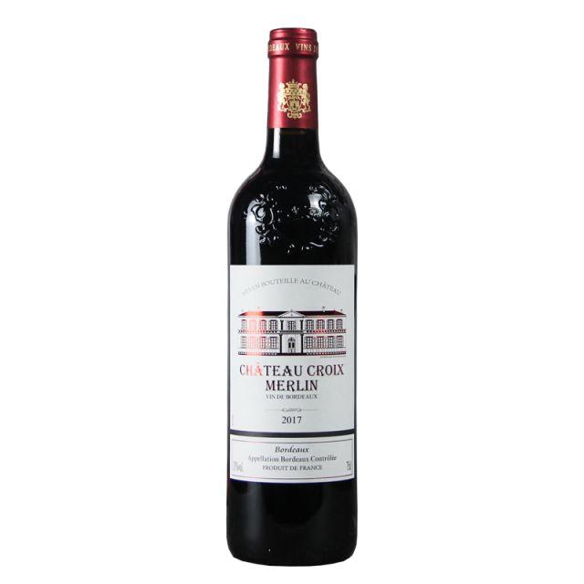 法国波尔多克洛伊梅林古堡红葡萄酒红酒