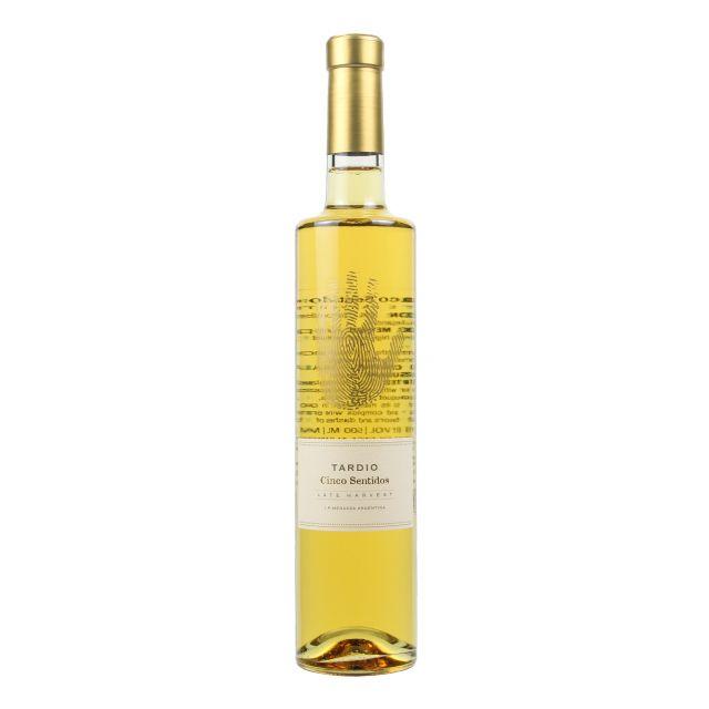 阿根廷门多萨省五味酒庄晚收甜白葡萄酒